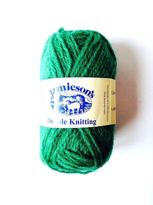 Pelote de laine 100% SHETLAND, double knitting, vert