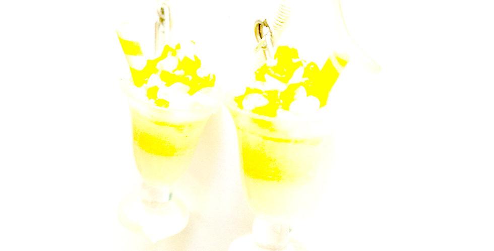 Boucles CRÈME GLACÉE, citron, miniatures