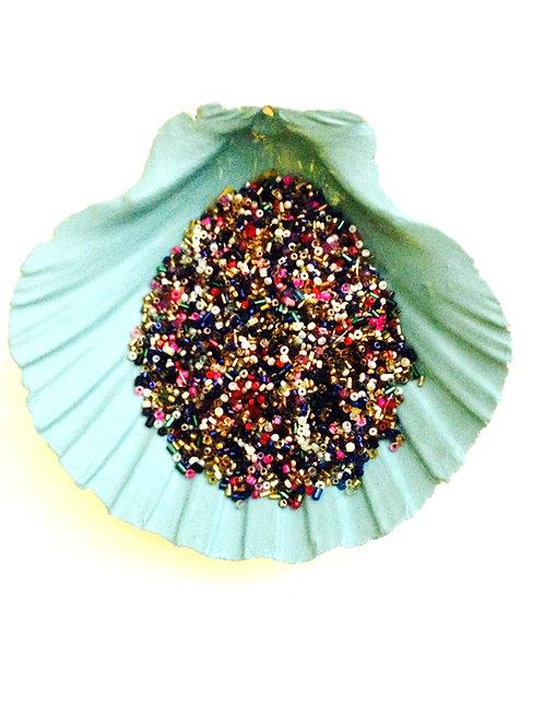 Perles miyuki,  petit lot de perles mélangées pour tous types de créations