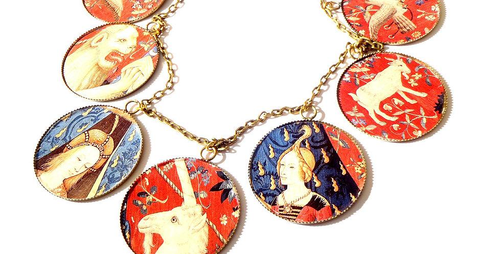 Collier 7 médaillons, de la Dame à la Licorne