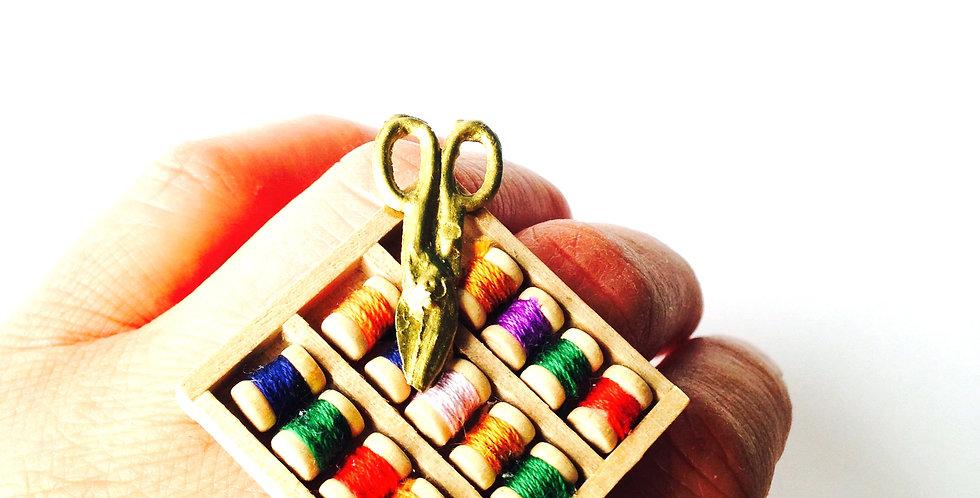 Bague COUSETTE, nécessaire à couture miniature