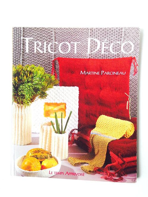 Livre TRICOT DÉCO, apprendre à tricoter pour l'ameublement