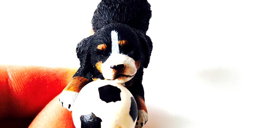 Bague REX VEUT JOUER, petit chien et ballon de foot