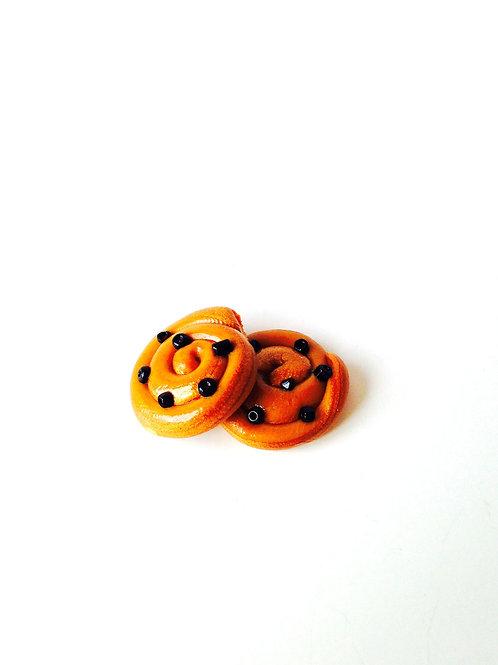 Pains aux raisins miniatures, pour maison de poupée échelle 1/12