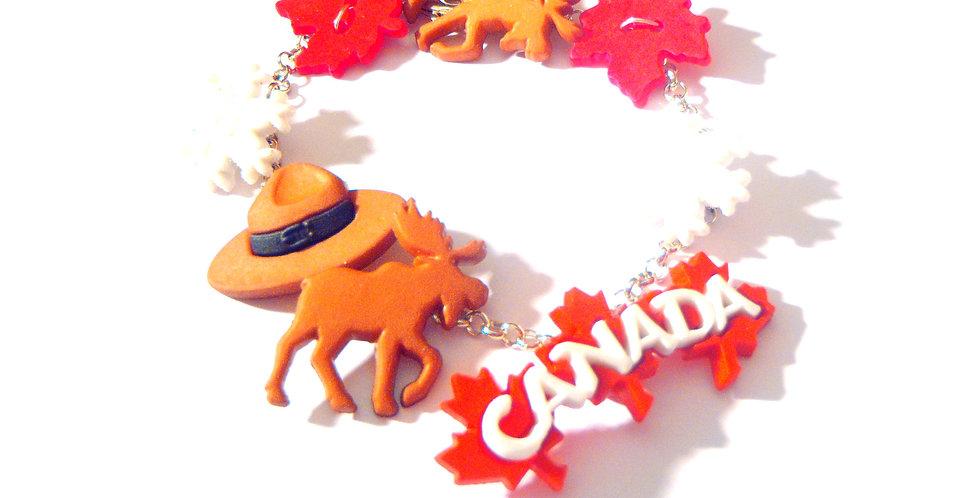 Bracelet LE VOYAGE AU CANADA, bracelet charms