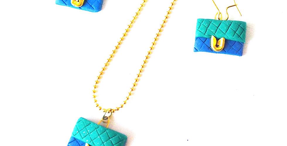 Sautoir LE P'TITS CLUTCH, pochette matelassée miniature