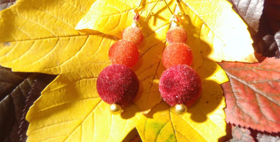 Boucles d'oreilles PERLES D'OCTOBRE, perles douces