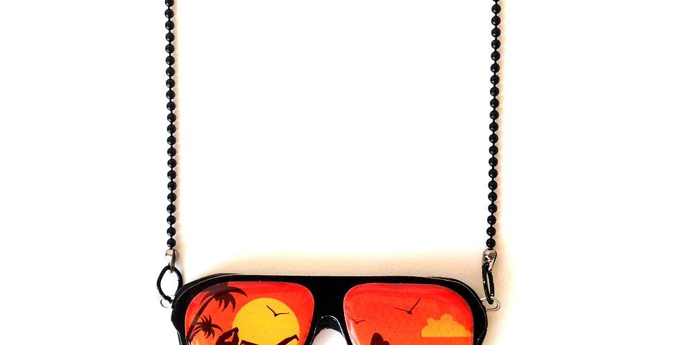 Sautoir MES NUITS BRÉSILIENNES, lunettes de soleil