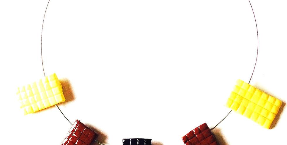 Collier ras du cou L'OBSESSION CHOCOLAT, plaques de chocolat miniatures