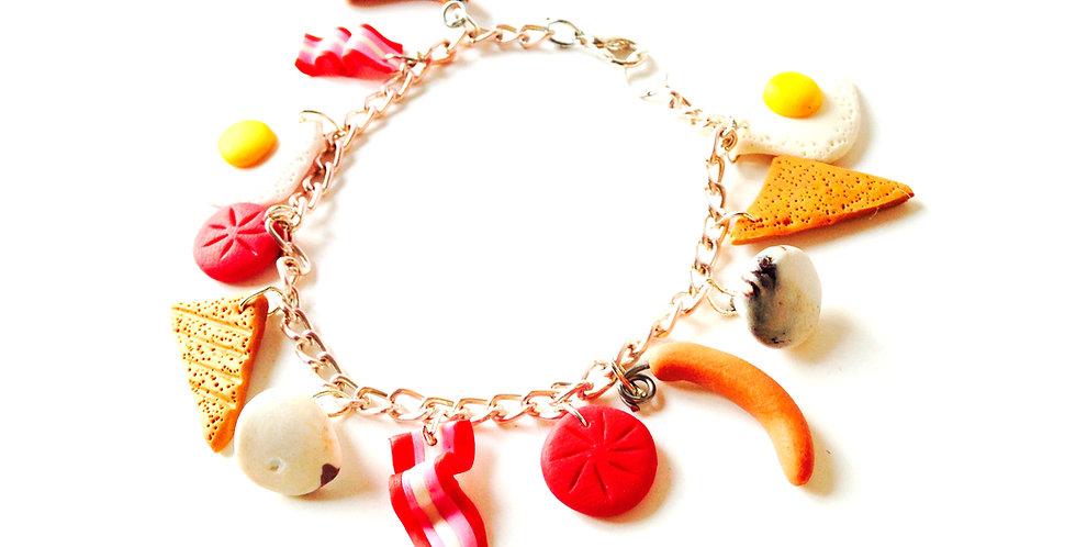 Bracelet ENGLISH BREAKFAST, charms