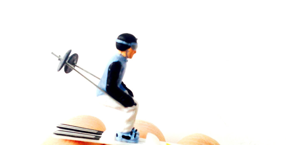 Bague TOUT SCHUSS !! Skieur miniature (bague ajustable)