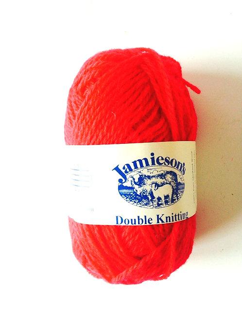 Pelote de laine 100% SHETLAND, double knitting, rouge vif