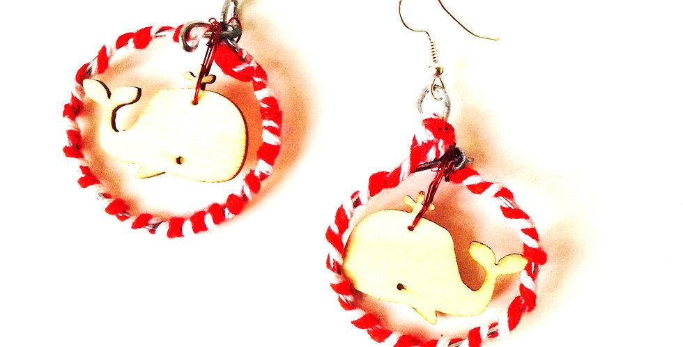 Boucles d'oreilles LES BALEINOUS, mini baleines
