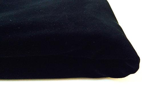 Velours Noir , beau morceau 135 x 83 cm belle qualité