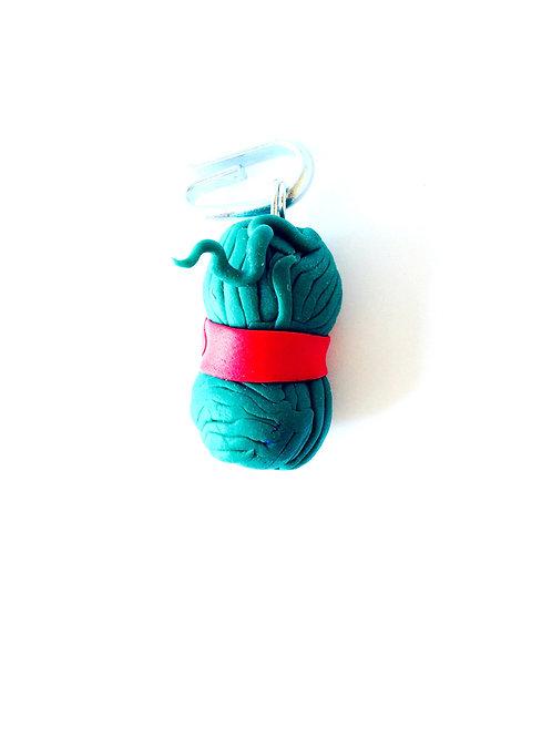 Pelote de laine en pâte polymère, pour bijou, porte-clé, etc.