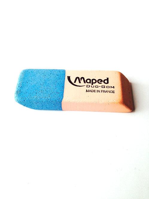 Gomme bicolore encre et crayon, Maped, produit d'occasion neuf