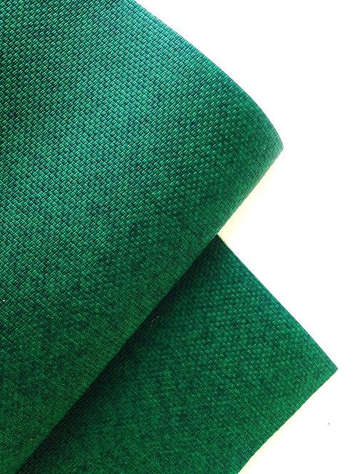 Coupon de simili cuir vert émeraude, très bonne qualité, bande 157 x 30 cm