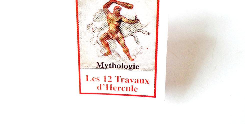 Bague Mini Livre LES 12 TRAVAUX D'HERCULE, ajustable