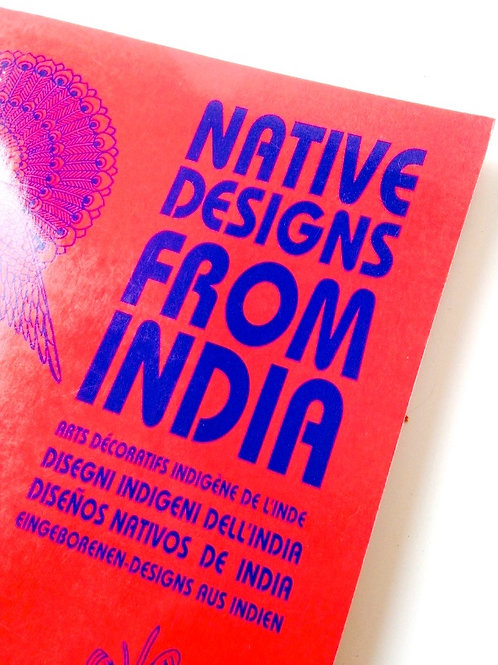 Native Designs from India, design indiens traditionnels, beau livre