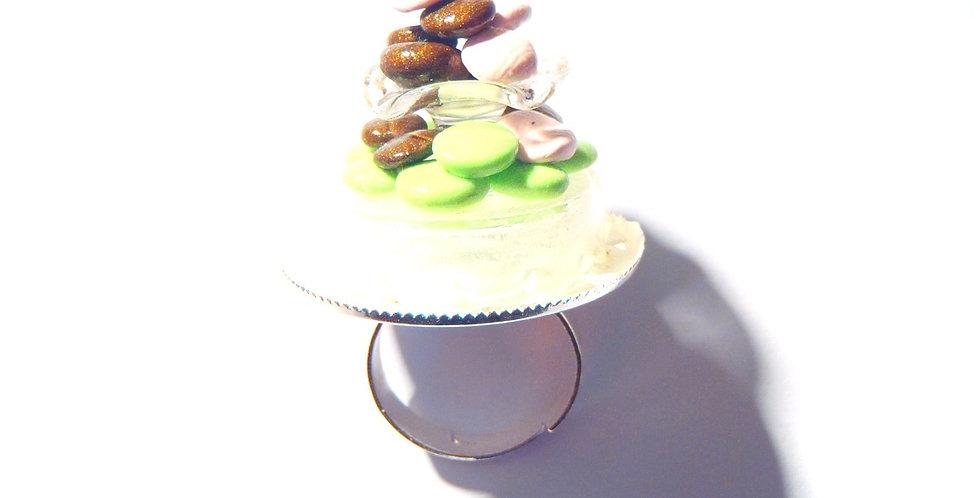 Bague PYRAMIDE DE MACARONS, miniatures