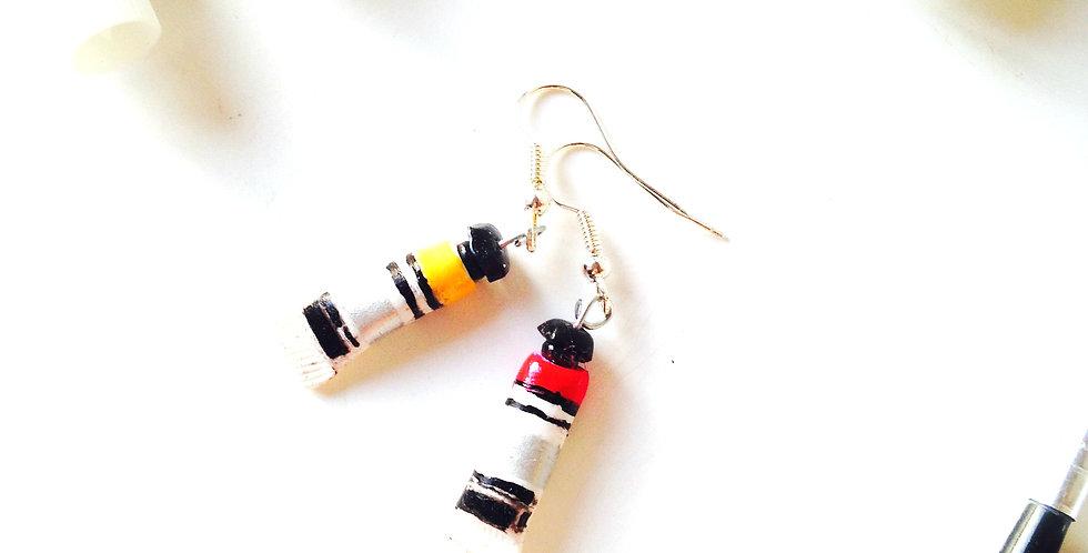 Boucles d'oreilles LES GOUACHES, miniatures