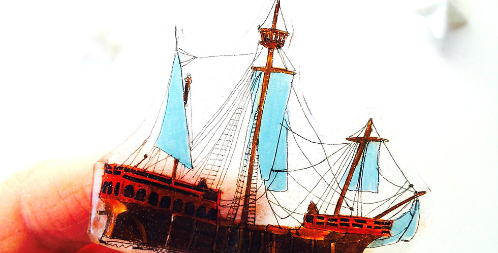 Broche bateau VOILIER