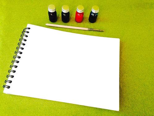 Papier Aquarelle - Bloc de 10 feuillets 300 grs 19 x 26 cm