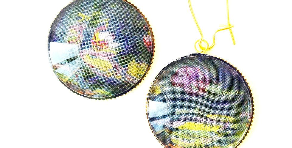 Boucles LES NYMPHÉAS, d'après Monet