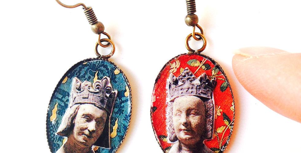 Boucles d'oreilles médiévales, CHARLES V - JEANNE DE BOURBON