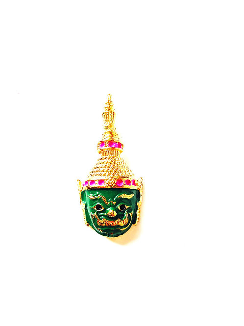 Pendentif thaï, vert et doré