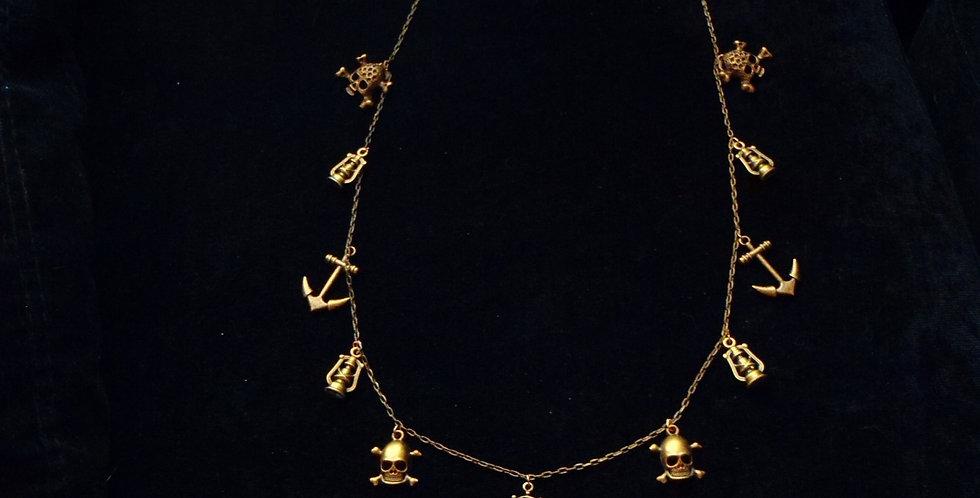 Sautoir PATATE DES CARAÏBES, pirate, couleur bronze