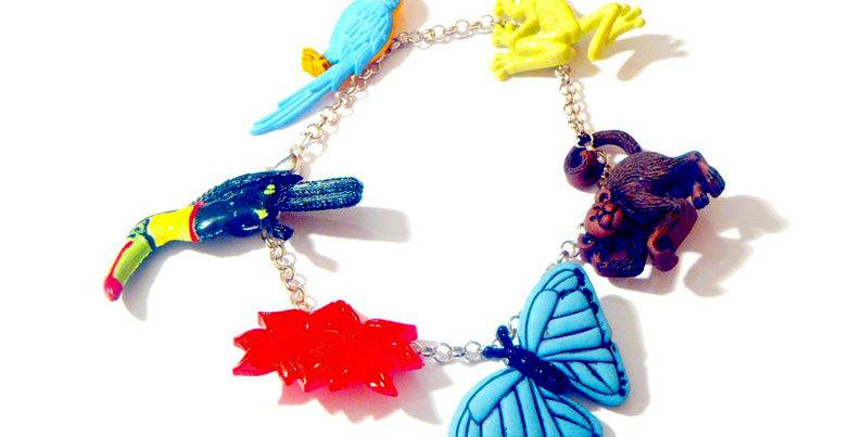 Bracelet LE VOYAGE AU BRÉSIL, bracelet charms