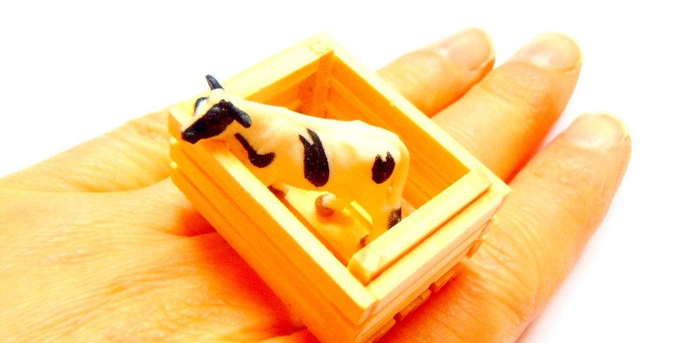 Bague MEUH, belle vache des Vosges