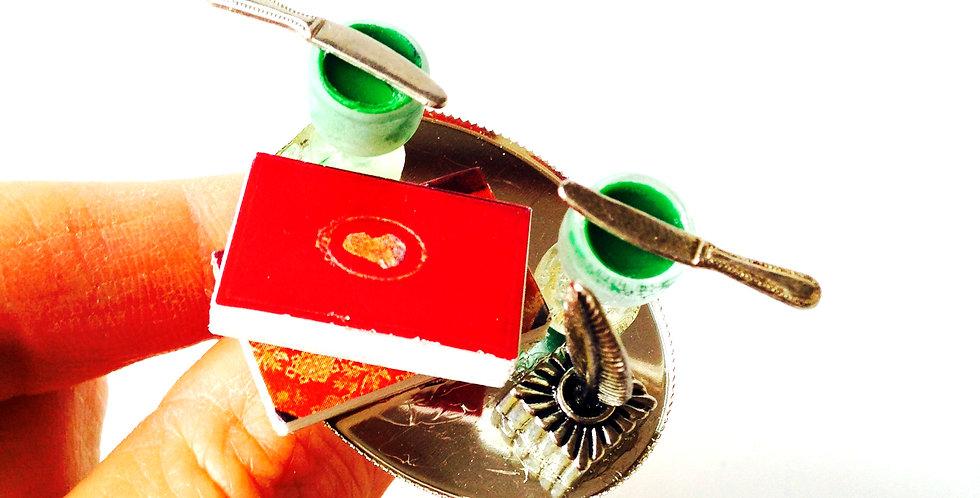 Bague VERLAINE ET RIMBAUD, livres miniatures, absinthe