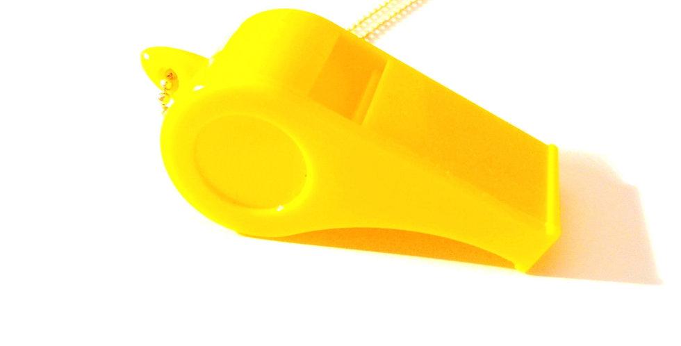 Sautoir LE SIFFLET À MECS, jaune