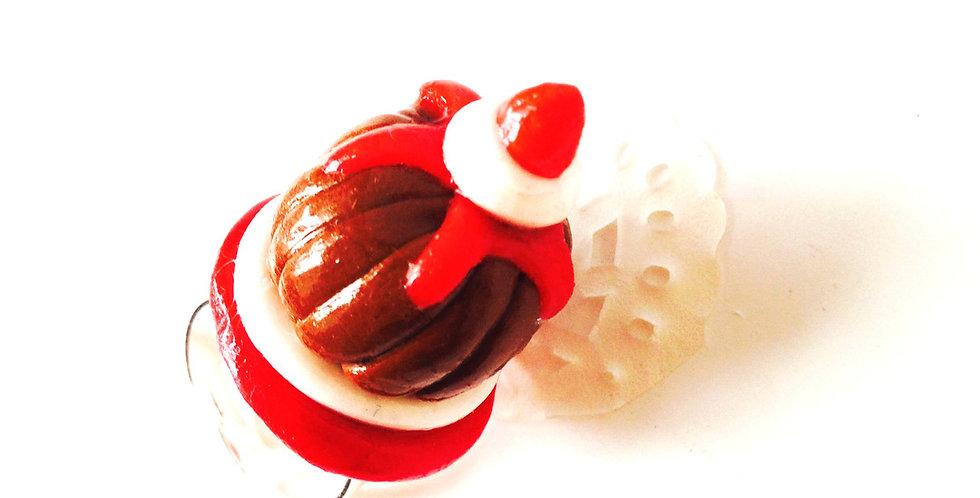 Bague CHARLOTTE AUX FRAISES, gâteau miniature, ajustable