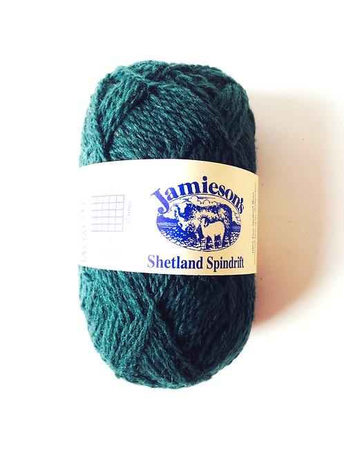 Pelote de laine 100% SHETLAND, spindrift (fil fin), vert ROSEMARY