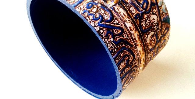 Bracelet SAHARA, motifs bleus