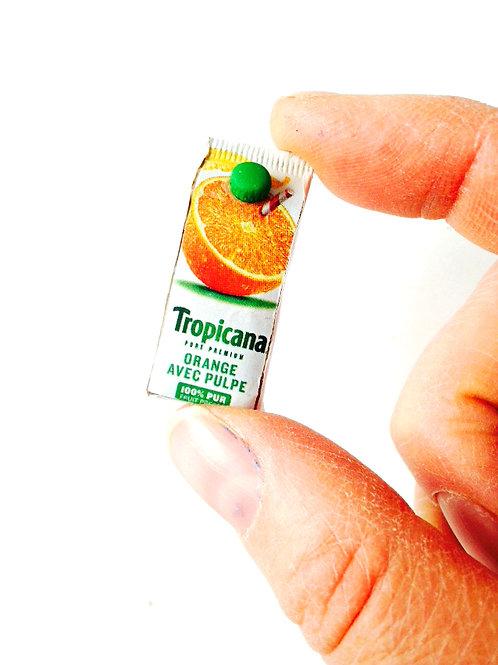 Pack de jus d'orange miniature, échelle 1:12, miniature maison de poupée