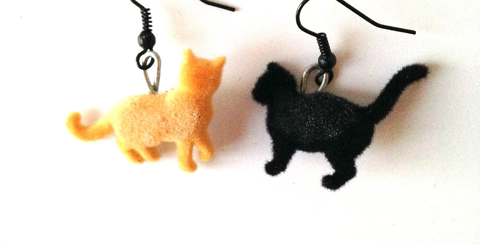 Boucles d'oreilles FÉLIN POUR L'AUTRE, chats