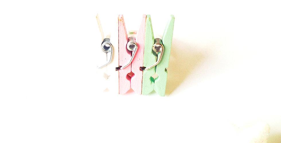 Bague J'EN PINCE, pastel, tricolore