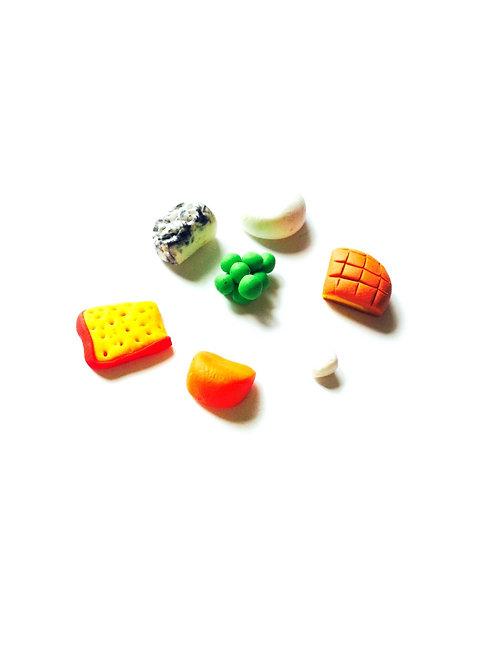 Fromages miniatures, en fimo, faits main, pour mini planche de fromages