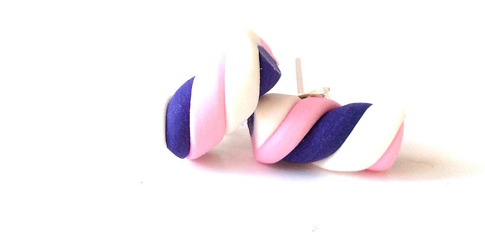 Puces d'oreilles GUIMAUVE, miniatures