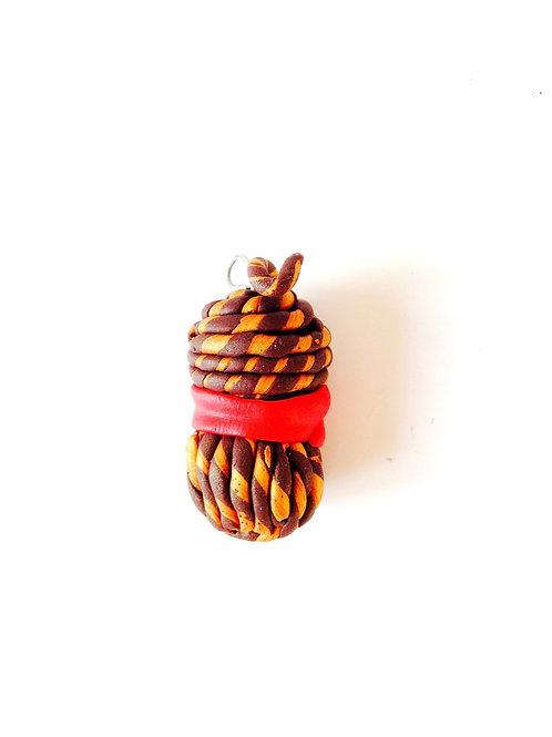 Pelote miniature, en pâte polymère, pour bijou, porte-clé, etc