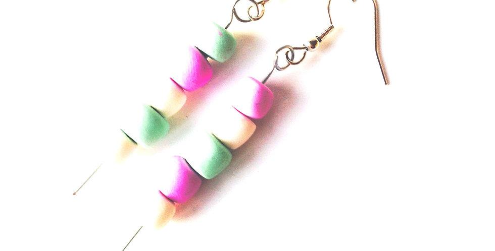 Boucles d'oreilles BROCHETTES GUIMAUVES, miniatures