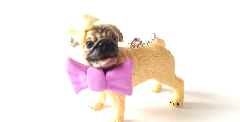 Sautoir GRACIEUSE, COMME UN PITBULL, chien carlin miniature