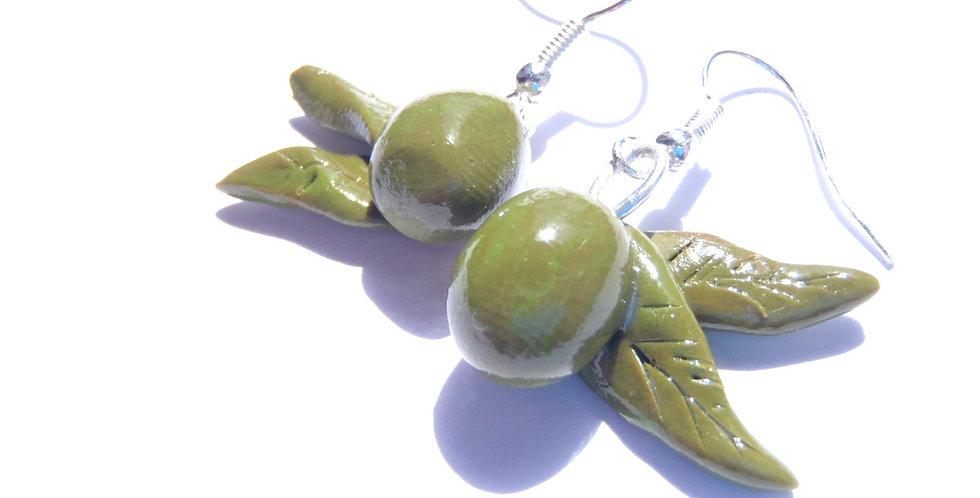Boucles d'oreilles LES OLIVETTES, miniatures