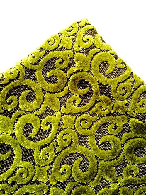 Tissu velours gaufré moka, vert 70 x 98 cm