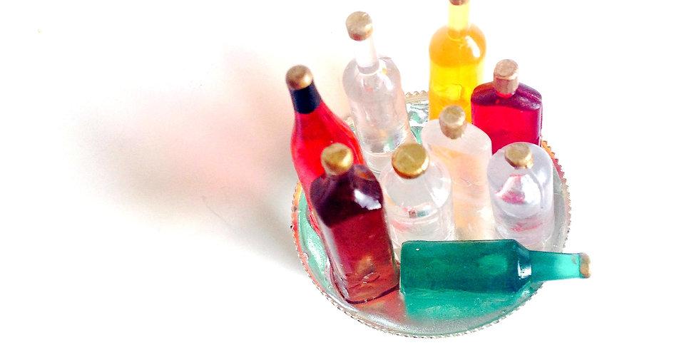 Bague MÉGATEUF, alcools, miniatures