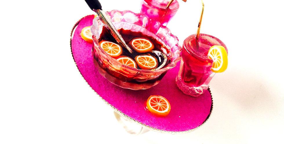 Bague SOIRÉE SANGRIA !!! bol de sangria et verres miniatures